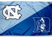 UNC and Duke flags